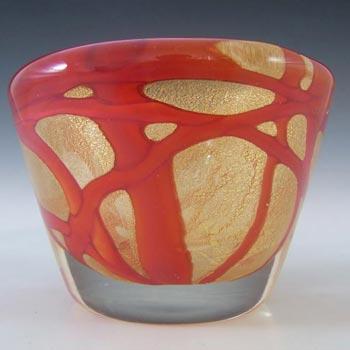 Barovier & Toso? Murano Gold Leaf Glass Zig Zag Bowl
