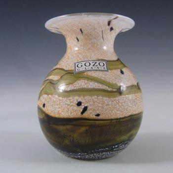 Gozo Maltese Glass 'Seashell' Vase - Signed + Labelled
