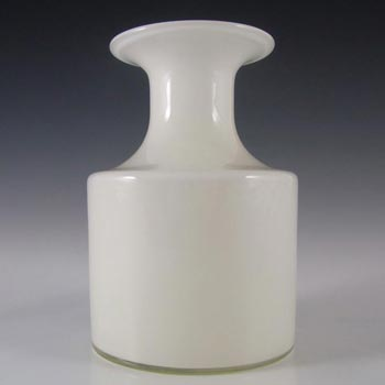 Holmegaard Carnaby Opal White Glass Vase by Per Lutken