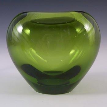 Holmegaard #18120 Per Lutken Green Glass 'Majgrøn' Vase - Signed