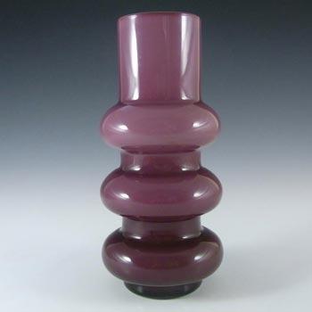 Ryd Glasbruk Swedish / Scandinavian Purple Glass Hooped Vase