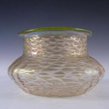 Art Nouveau 1900's Iridescent Glass Antique Vase