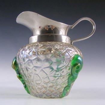 Kralik Art Nouveau 1900's Iridescent Glass 'Martelé' Jug