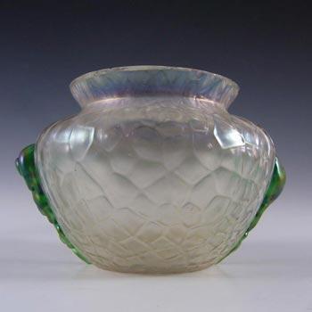 Kralik Art Nouveau 1900's Iridescent Glass 'Martelé' Vase