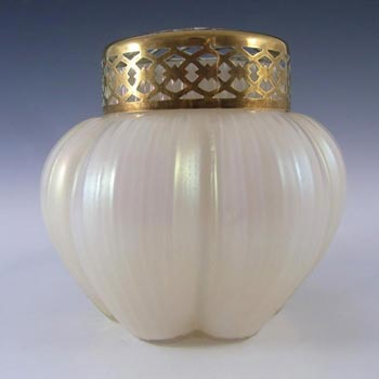 Art Nouveau 1900's Iridescent Mother-of-Pearl Glass Posy Vase