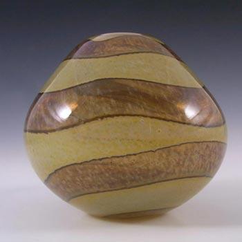 Mdina Brown & Sandy 'Earthtones' Glass Vase - Signed