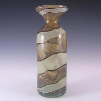 SIGNED Mdina Maltese Sandy 'Earthtones' Glass Vase