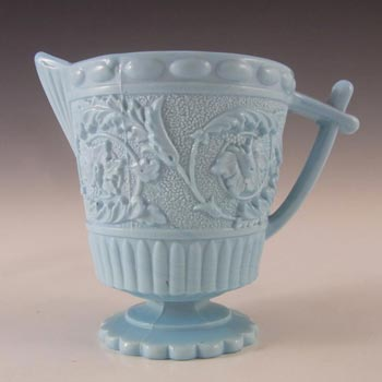 Sowerby #1430 Victorian Blue Milk Glass Creamer/Jug - Marked