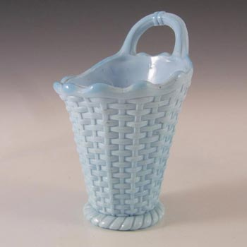 Sowerby #1173 Victorian Blue Milk / Vitro-Porcelain Glass Spill Vase - Marked