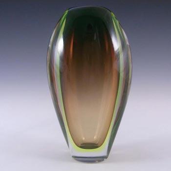 Arte Nuova Pustetto & Zanetti Murano Sommerso Uranium Glass Vase