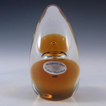 Wedgwood Topaz Glass Domed Paperweight RSWII - Marked