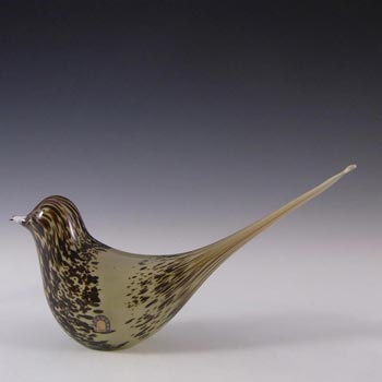 Wedgwood Glass Long-Tailed Bird Paperweight RSW73 - Marked