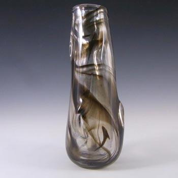 Whitefriars #9612 Wilson/Dyer Streaky Brown Glass Knobbly Vase