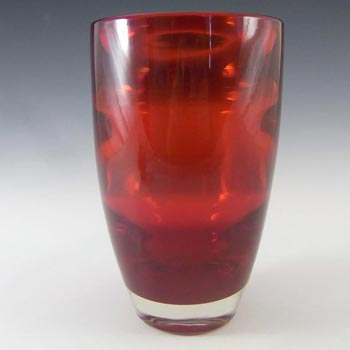 Whitefriars #9582 Baxter Ruby Red Glass Flared Vase
