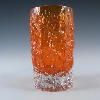 Whitefriars #M34 Baxter Tangerine Glass Textured Bark Tumbler