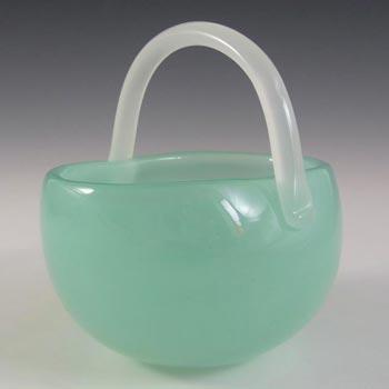 Archimede Seguso Alabastro Glass Basket Bowl - Label