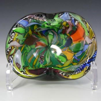 AVeM Murano 1950's Zanfirico + Aventurine Green Glass Bowl