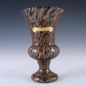 V Nason & C Murano Aventurine Glass Vase - Labelled