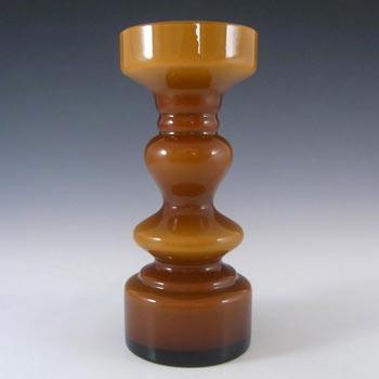 Japanese Amber Cased Hooped Glass Vase - Swedish Style