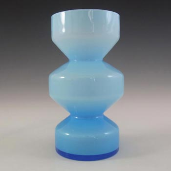 Scandinavian/Swedish Retro 1960s Blue Cased Glass Vase