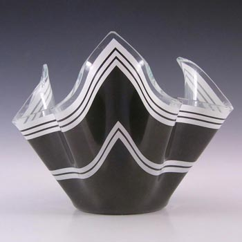 Chance Brothers Black Glass 'Bandel-2' Handkerchief Vase