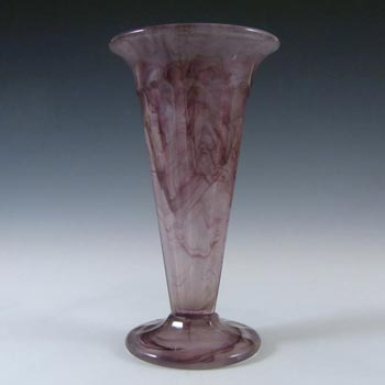 Davidson #51 British Art Deco Purple Cloud Glass Vase