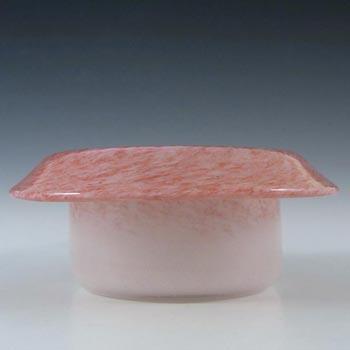 Vasart Signed Scottish Pink Mottled Glass Bowl B041