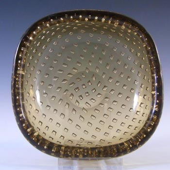 Venini Murano Glass Bullicante Bowl by Carlo Scarpa - Marked