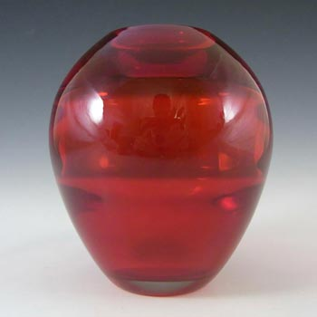 Whitefriars #9585 Baxter Ruby Red Glass Ovoid Vase