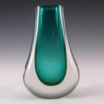 Whitefriars #9572 Baxter Green Glass Teardrop Vase