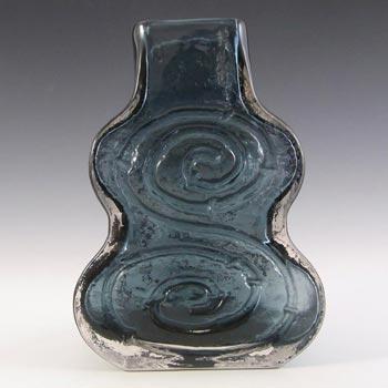 Whitefriars #9675 Baxter Indigo Textured Glass Cello Vase