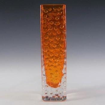 Whitefriars #9683 Baxter Tangerine Glass Nailhead Vase