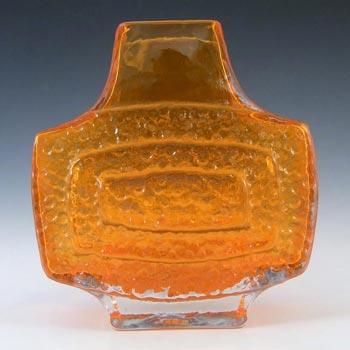 Whitefriars #9677 Baxter Tangerine Textured Glass TV Vase