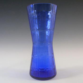 Alsterfors #AV422 Swedish / Scandinavian Blue Glass Vase