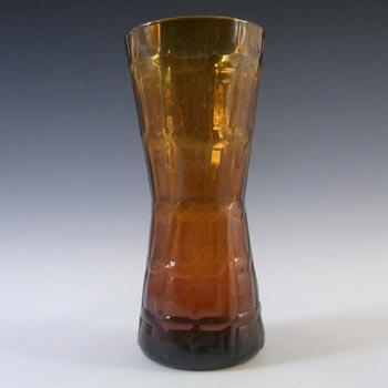 Alsterfors #AV422 Swedish / Scandinavian Amber Glass Vase
