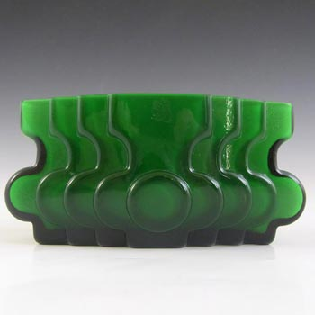 SIGNED Alsterfors/Per Strom Green Cased Glass Vase