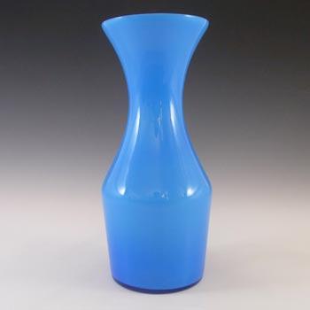 Alsterfors 1970's Scandinavian Blue Cased Glass Vase