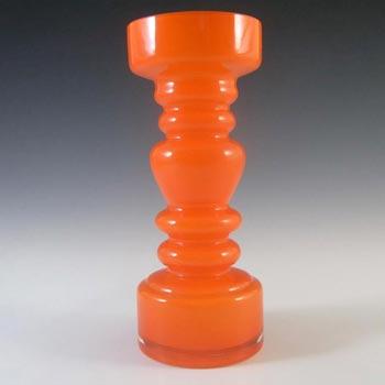 Japanese Orange Cased Hooped Glass Vase - Swedish Style