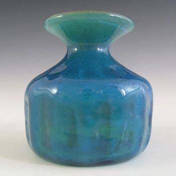 Mdina Maltese Blue + Green Glass Vase - Signed