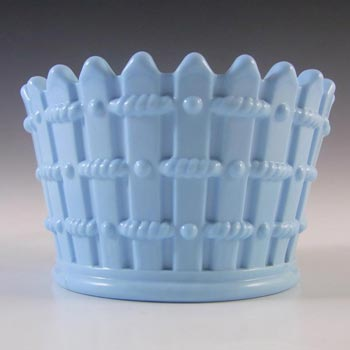 Antique 1890's Victorian Blue Milk Glass Bowl