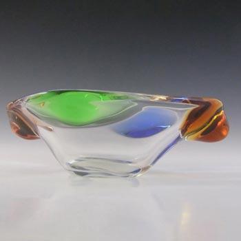 Mstisov Czech Glass Rhapsody Bowl by Frantisek Zemek