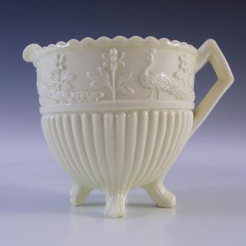 Sowerby #1350 Victorian Queen's Ivory Milk Glass Creamer - Marked