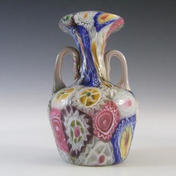 Fratelli Toso Millefiori Canes Murano Multicoloured Glass Vase