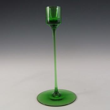 Wedgwood 'Sandringham' Green Glass Candlestick RSW22/2