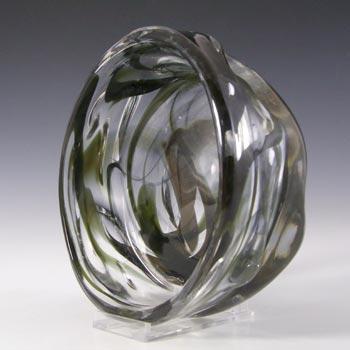 Whitefriars #9613 Wilson/Dyer Streaky Green Glass Knobbly Bowl