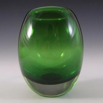 Whitefriars #9518 Baxter Meadow Green Glass Ovoid Vase