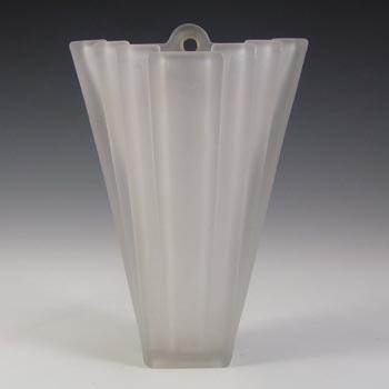 Bagley #334 Art Deco Frosted Glass Vintage 'Grantham' Wall Vase