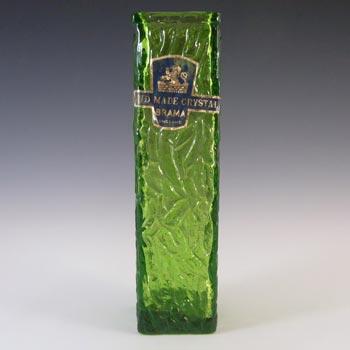 LABELLED Davidson British Green Bark Textured Glass 'Luna' Vase