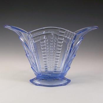 Brockwitz Art Deco 1930s Blue Glass Vase #9070