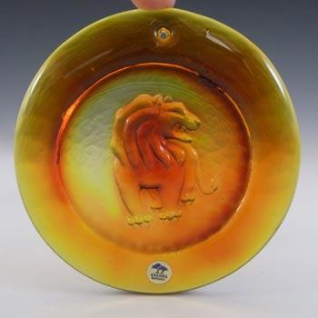 LABELLED Ekenas Orange Vintage Glass 'Leo' Suncatcher